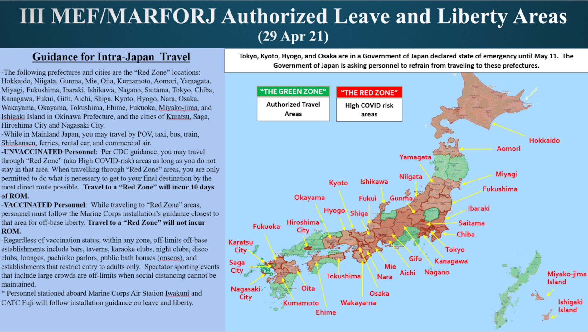 Leave and liberty areas