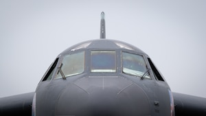 A B-52H Stratofortress is prepared for departure at Barksdale Air Force Base, Louisiana, April 28, 2021.