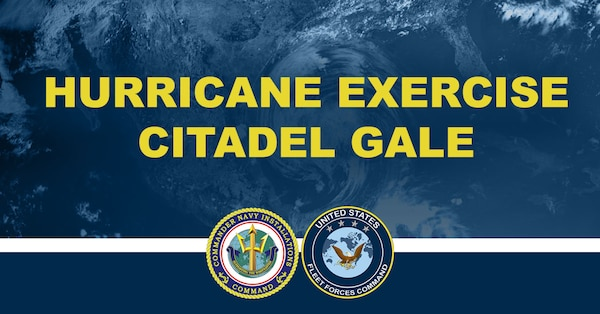 An optimized social media graphic for Hurricane Exercise/Citadel Gale 2021 (HURREX/CG 21), which is scheduled to take place May 3-14.