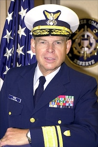 A portrait photo of Rear Admiral Carlton Moore, USCGR (Retired)