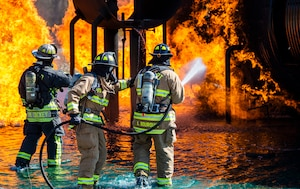 Wright-Patt Fire Department Conducts Fire Training