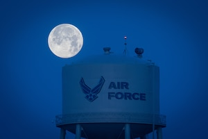 Supermoon over Hurlburt Field