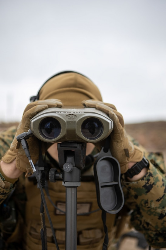 Binoculars, targeting, military
