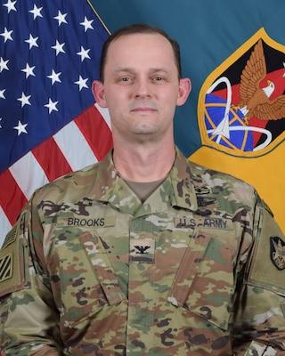 COL Donald K. Brooks, commander, 1st Space Brigade