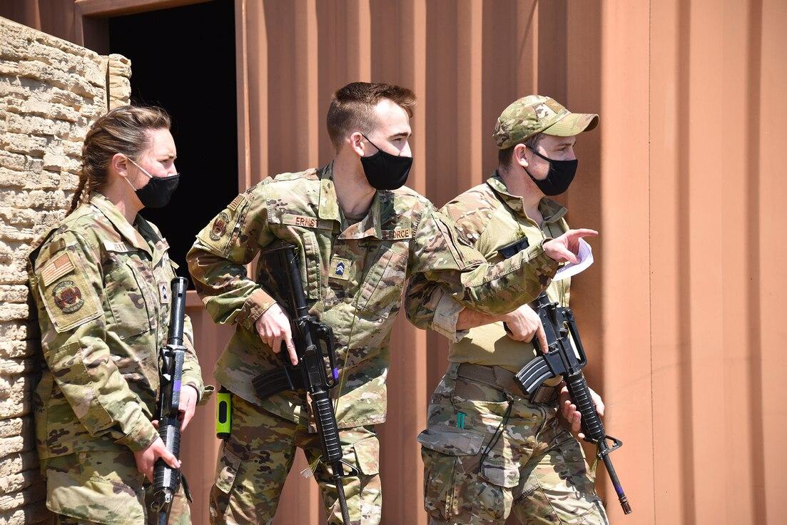 KSU AFROTC field training at Smoky Hill ANG Range