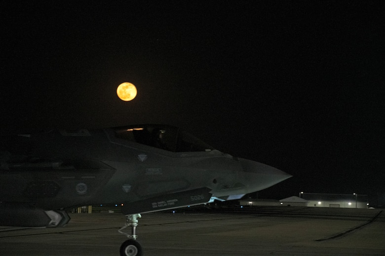 The 58th Fighter Squadron and 33rd Aircraft Maintenance Squadron conduct night flying operations to accommodate pilot training qualification requirements.