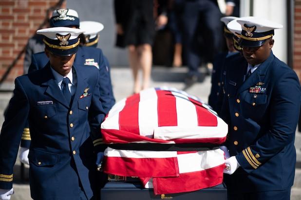 The U.S. Coast Guard Academy held the funeral of retired Coast Guard Cmdr. Merle Smith, July 9, 2021. In 1966, Smith was the first African American cadet to graduate from the Academy.