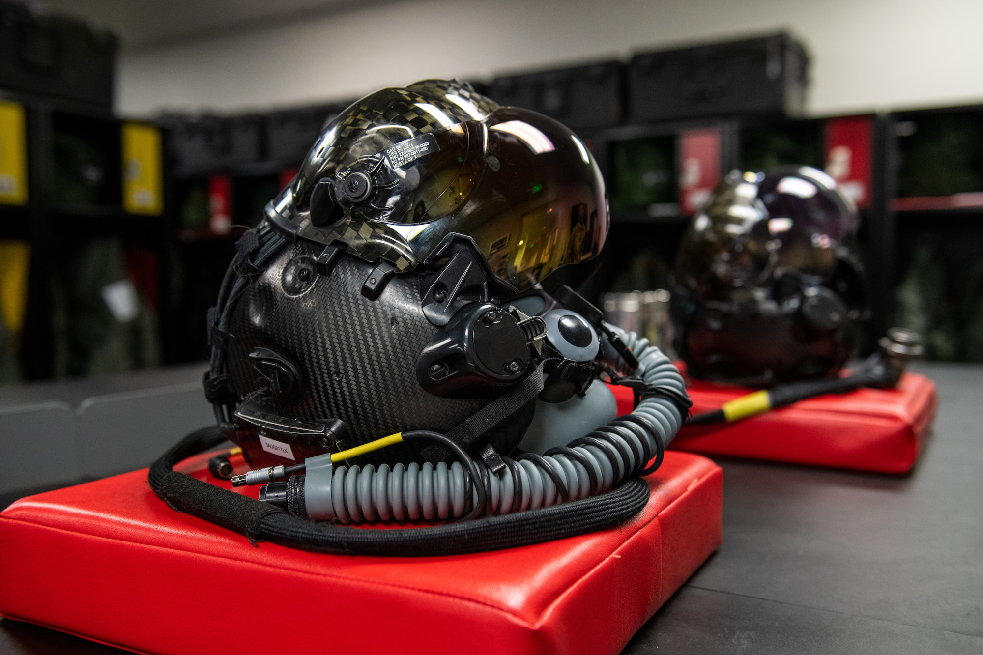 Designed to work with the F-35 Lightning II, the custom-fitted helmet serves to increase pilot responsiveness through enhanced situational awareness. Real-time imagery from the aircraft's six exterior cameras is streamed onto the helmet's display providing the pilot a view that would otherwise be obscured.