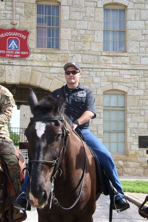 U.S. Army Sgt. 1st Class Timothy French, the platoon sergeant of the Joint Base San Antonio- Fort Sam Houston Caisson platoon took his final ride, July 23, 2021.