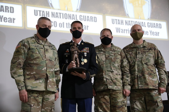 Senior NCO of the year: Master Sgt. Zachary Beveridge, a master leadership course facilitator with 640th Regiment, Regional Training Institute.