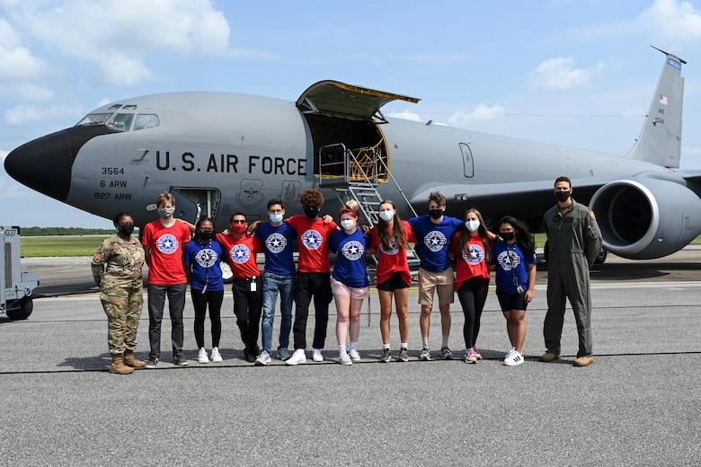 AIM HIGH Flight Academy visits 33rd FW