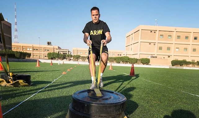 Soldiers in the 640th Regiment, RTI conduct the Army Combat Fitness Test at Camp Williams, June 1st, 2021.