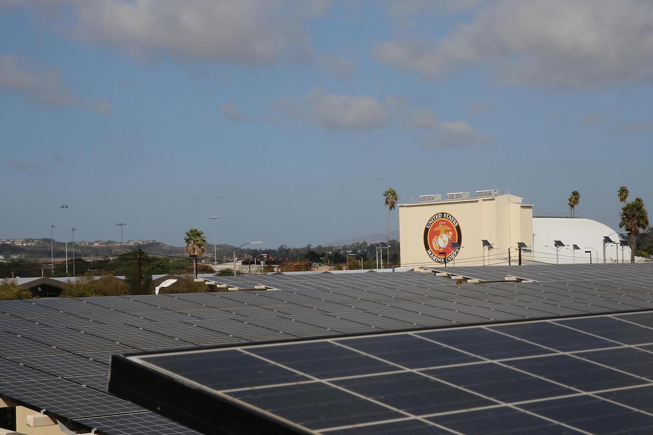 A photo shows multiple solar panels.