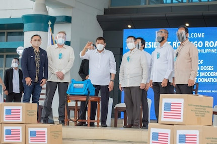 Arrival of 3 Million U.S.-Provided Moderna Vaccines to the Philippines