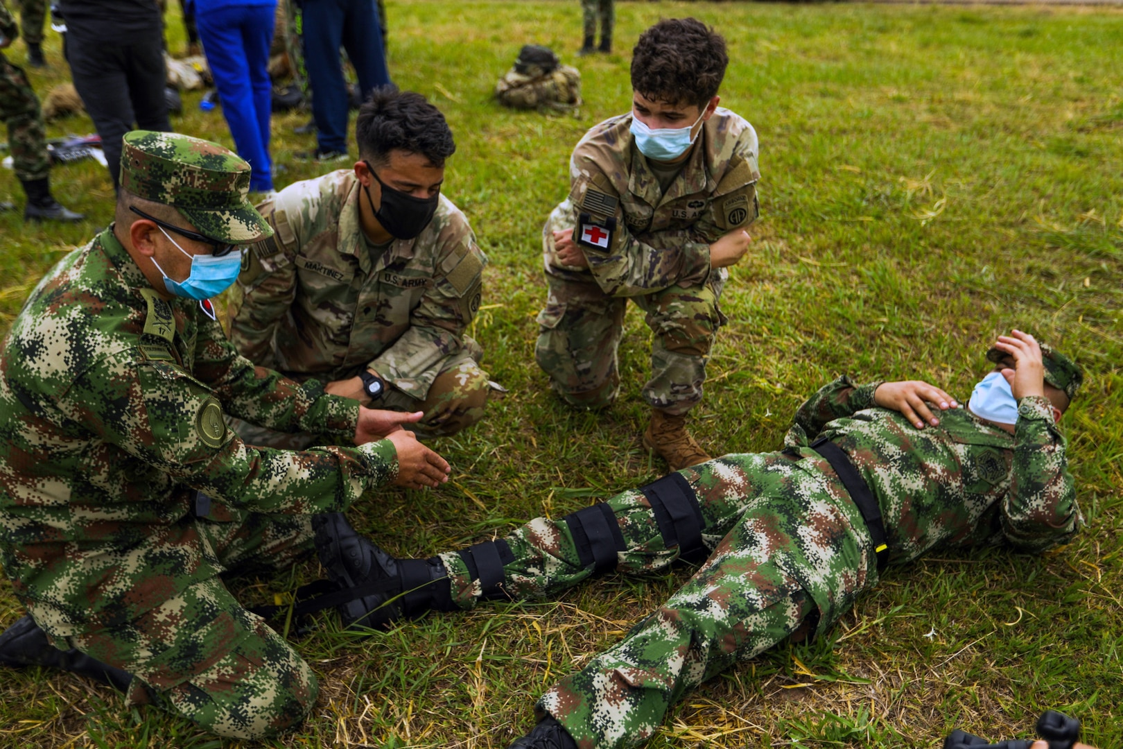 TOLEMAIDA AIR BASE, Colombia medical evacuation rehearsals