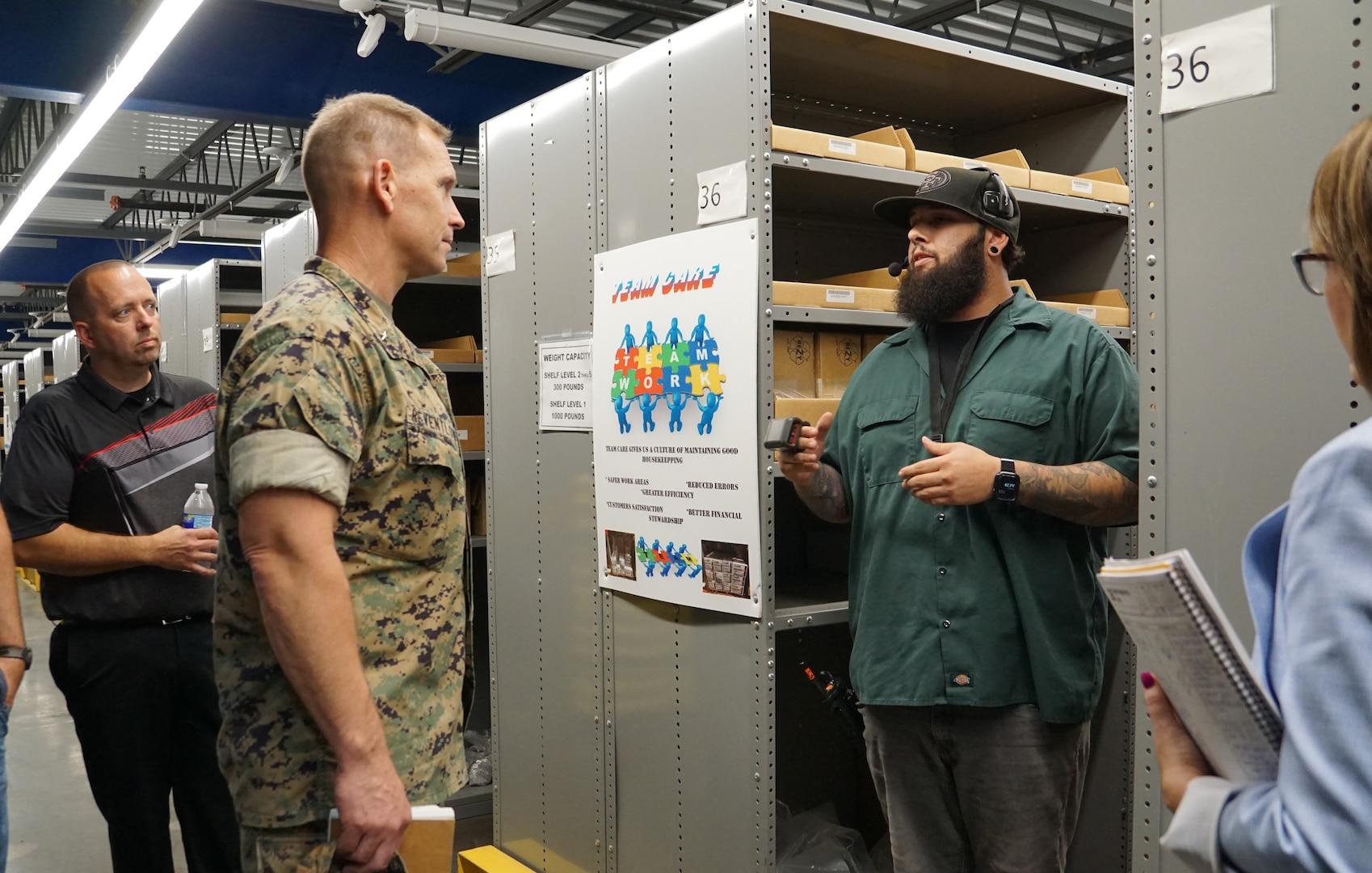 Defense Logistics Agency Distribution Commanding General Visits DLA Distribution San Joaquin