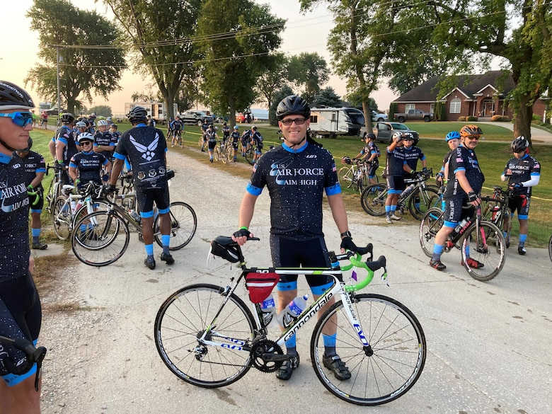 2nd Lt. Steven Carroll, a reservist in the 419th Fighter Wing, recently completed more than 500 miles alongside the U.S. Air Force Cycling Team as part of the Register's Annual Great Bicycle Ride Across Iowa event July 25-31.