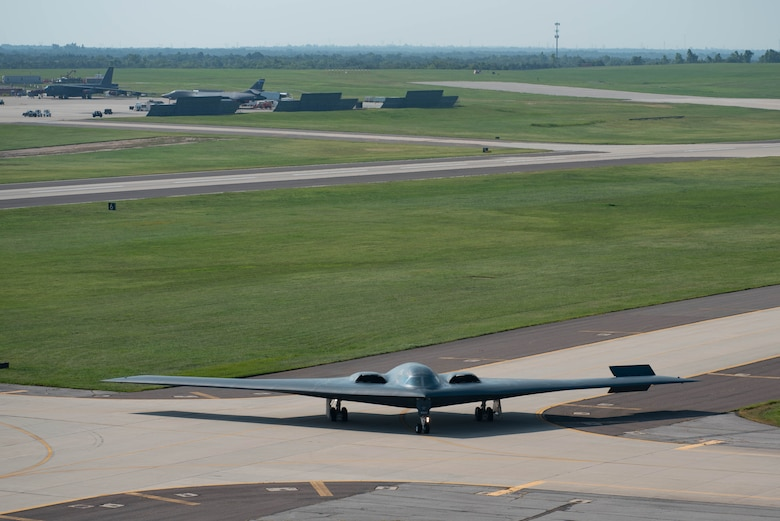Airplanes on airfield at Tinker AFB
