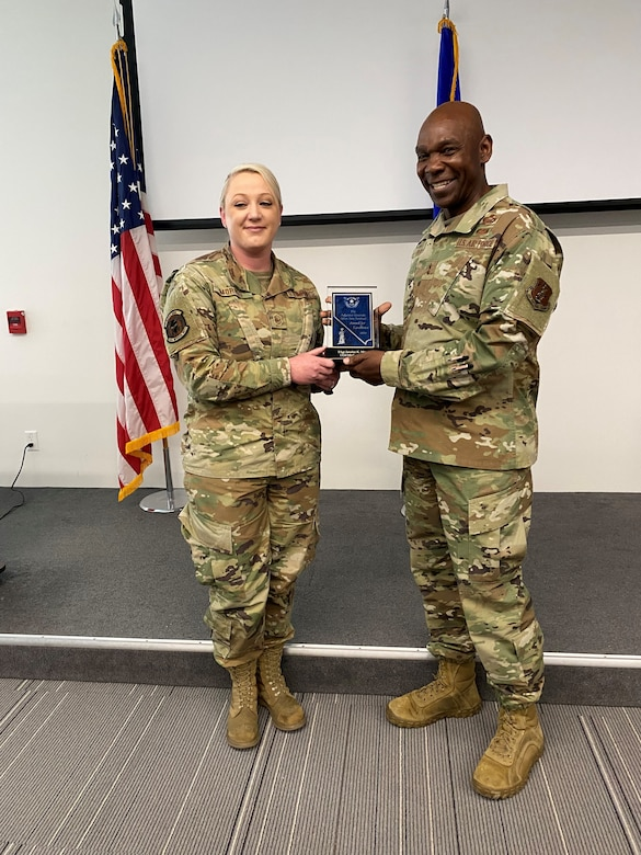 TAG Awarding Morris the Silver Sentinel Award