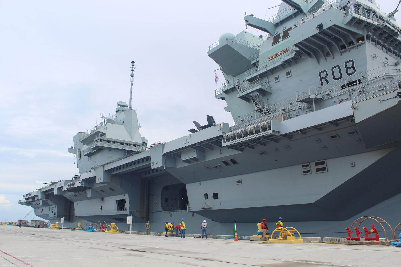 U.K. Carrier Strike Group visits Guam, highlights global partnerships
