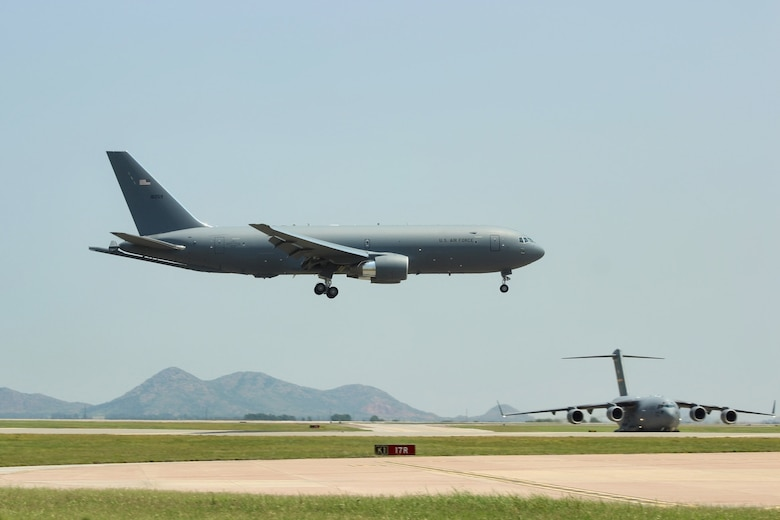 AETC deputy commander delivers AAFB's newest KC-46