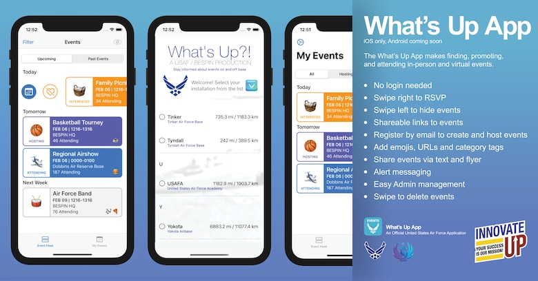 What's Up app flyer