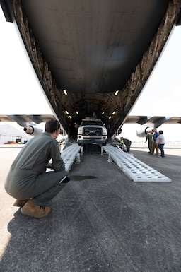164th Airlift Wing transports first civilian asset on Tennessee military aircraft.
