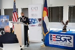 The Adjutant General of Colorado U.S. Army Brig. Gen. Laura Clellan attends an award presentation of the Employer Support of the Guard and Reserve Pro Patria and Freedom Award to a local Colorado business, in Denver, Sept. 25, 2020. ESGR's Pro Patria Award is presented annually by each ESGR State Committee to one small, one large, and one public sector employer in their state or territory. Recipients have demonstrated the greatest support to Guard and Reserve employees through their leadership and practices, including adopting personnel policies that make it easier for employees to participate in the National Guard and Reserve. This is the highest level award that may be bestowed by an ESGR State Committee. The Secretary of Defense Employer Support Freedom Award is the highest recognition given by the U.S. Government to employers for their support of their employees who serve in the Guard and Reserve. (U.S. Army National Guard photo by Staff Sgt. Joseph K. VonNida)