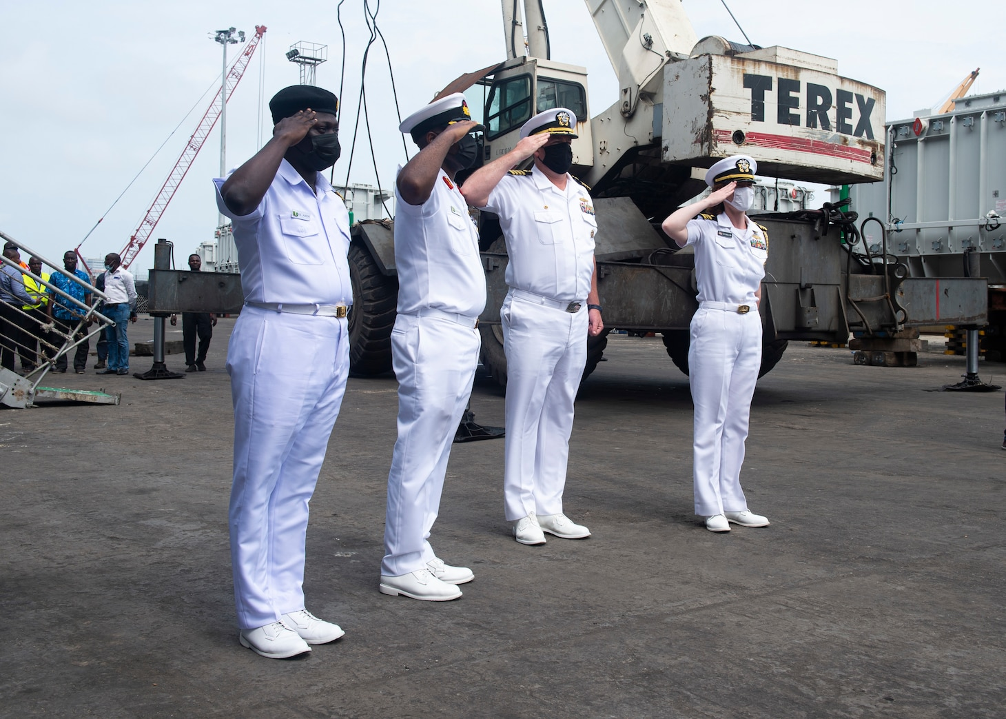 """USS Hershel """"Woody"""" Williams Arrives in Nigeria for Maritime Security Engagement"""