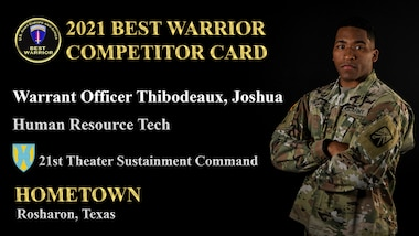 Warrant Officer Joshua Thibodeaux