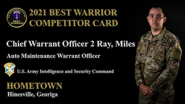 Chief Warrant Officer 2 Miles Ray