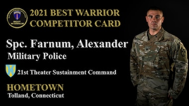 2021 U.S. Army Europe and Africa Best Warrior Competitors.