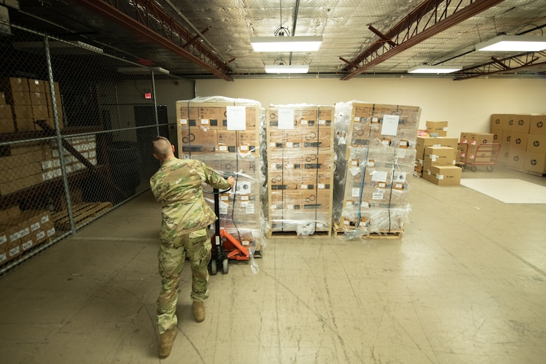 Medical Wing prepares information technology equipment for new electronic health record MHS GENESIS