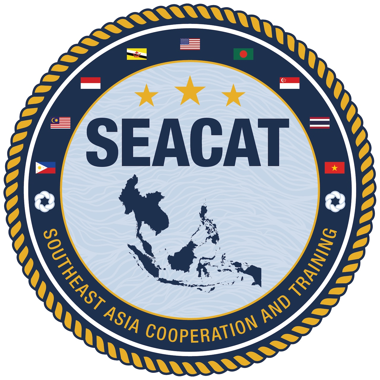 210810-N-PL200-0001 SINGAPORE -- Maritime forces from 21 Indo-Pacific partner nations including the U.S. Navy, U.S interagencies, and international organizations began the 20th iteration of Southeast Asia Cooperation and Training (SEACAT). In its 20th year, SEACAT is a multilateral exercise designed to enhance cooperation among 21 participating Southeast Asian countries and provide mutual support and a common goal to address crises, contingencies, and illegal activities in the maritime domain in support of a free and open Indo-Pacific. (U.S. Navy courtesy image)