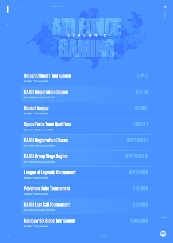 schedule of season two events