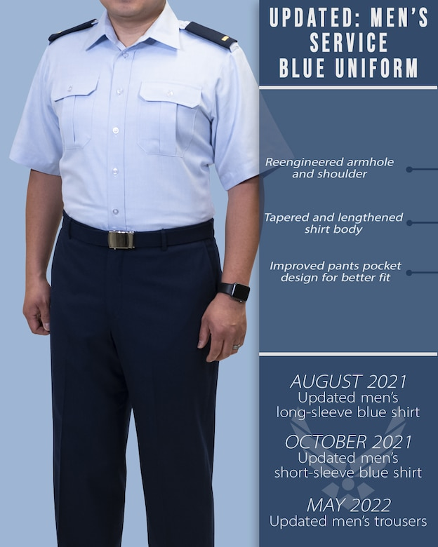 New dress and appearance changes are expected to be released in early October 2021 upon the updated publication of Air Force Instruction 36-2903, Dress and Appearance of Air Force Personnel. Changes include male bulk hair standards, cosmetic tattooing, female hair accessory size, optional hosiery in dress uniform, transparent piercing spacers and morale patches. (U.S. Air Force graphic by Staff Sgt. Elora J. McCutcheon)