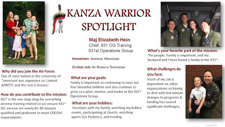 KANZA Warrior Spotlight August 2021