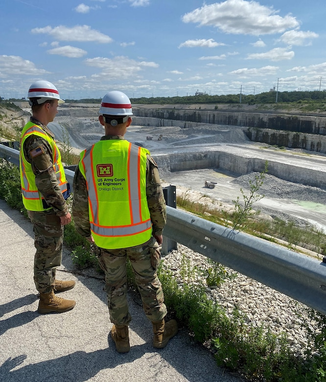 Army Cadets Jacob Krause and Zackery Denning at McCook Reservoir, July 30, 2021.