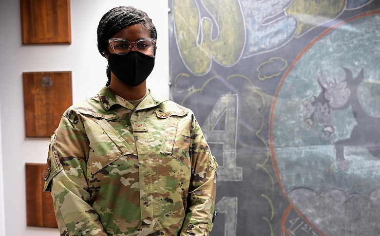Airman poses for a picture