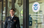 Virginia Army National Guard Soldier Spc. Sri Siri Sundaresan Arumugam, assigned to Maneuver Training Center Fort Pickett, becomes a U.S. citizen July 29, 2021, at the U.S. Citizenship and Immigration Services Field Office in Norfolk, Va. Sundaresan Arumugam, a native of India, joined the Army National Guard in April 2019 and was assigned to Fort Pickett in October 2020 after completing Army Basic Combat Training and Advanced Individual Training. (U.S. Army National Guard photo by Staff Sgt. Lisa M. Sadler)