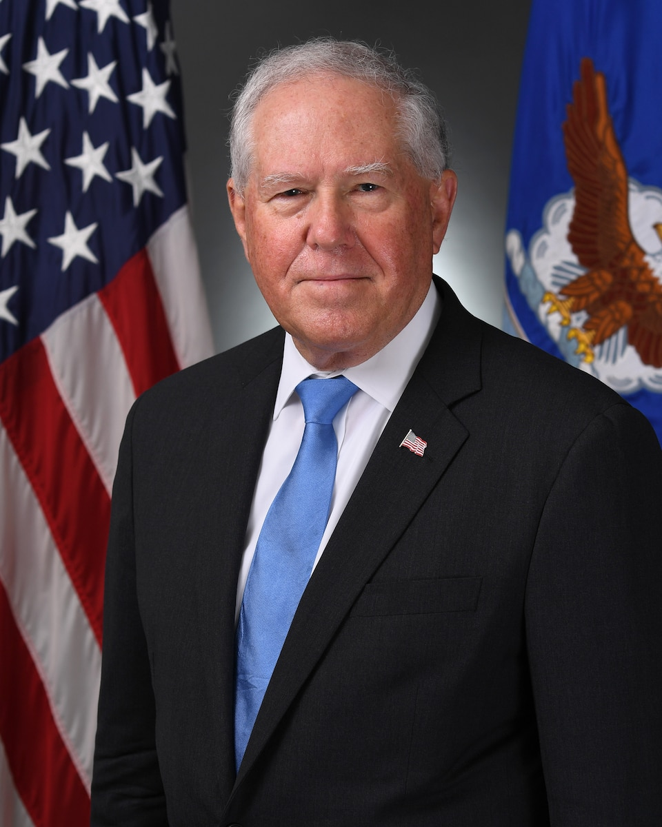 This is the official portrait of Secretary of the Air Force Frank Kendall.