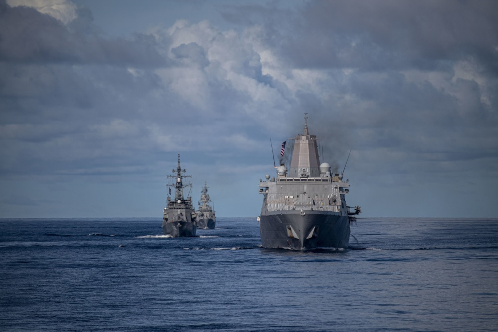 JS Makinami Directs Force During Combined, and Joint Battle Problem