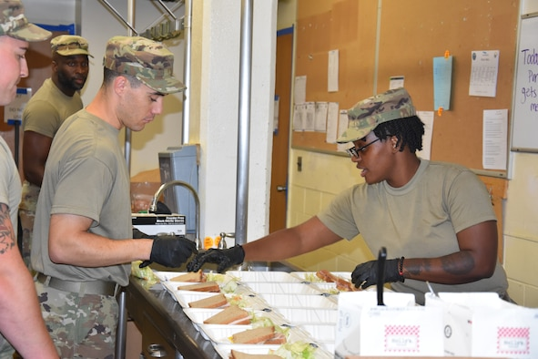 Air and Army National Guardsmen from Pennsylvania and New Hampshire planned, ordered, prepared and served nearly 5,000 meals to more than 200 military service members participating in the Central Delaware Partnership for Hope, an Innovative Readiness Training (IRT) project where service members offered no-cost health care to members of the Dover community in August 2021.