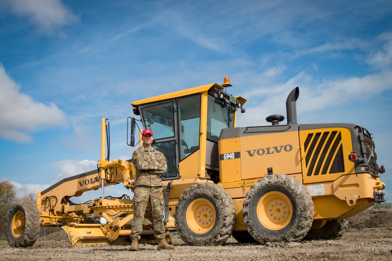 U.S. Air Force Senior Master Sgt. Mark Schneider, a pavement, maintenance and construction equipment superintendent, for the 200th RED HORSE, Ohio National Guard, poses for a photo at Camp Perry, Ohio, April, 17, 2021. Schneider was awarded Senior Non-Commissioned Officer of the Year for the Air National Guard. (U.S. Air National Guard photo by Master Sgt. Molly Teegarden)
