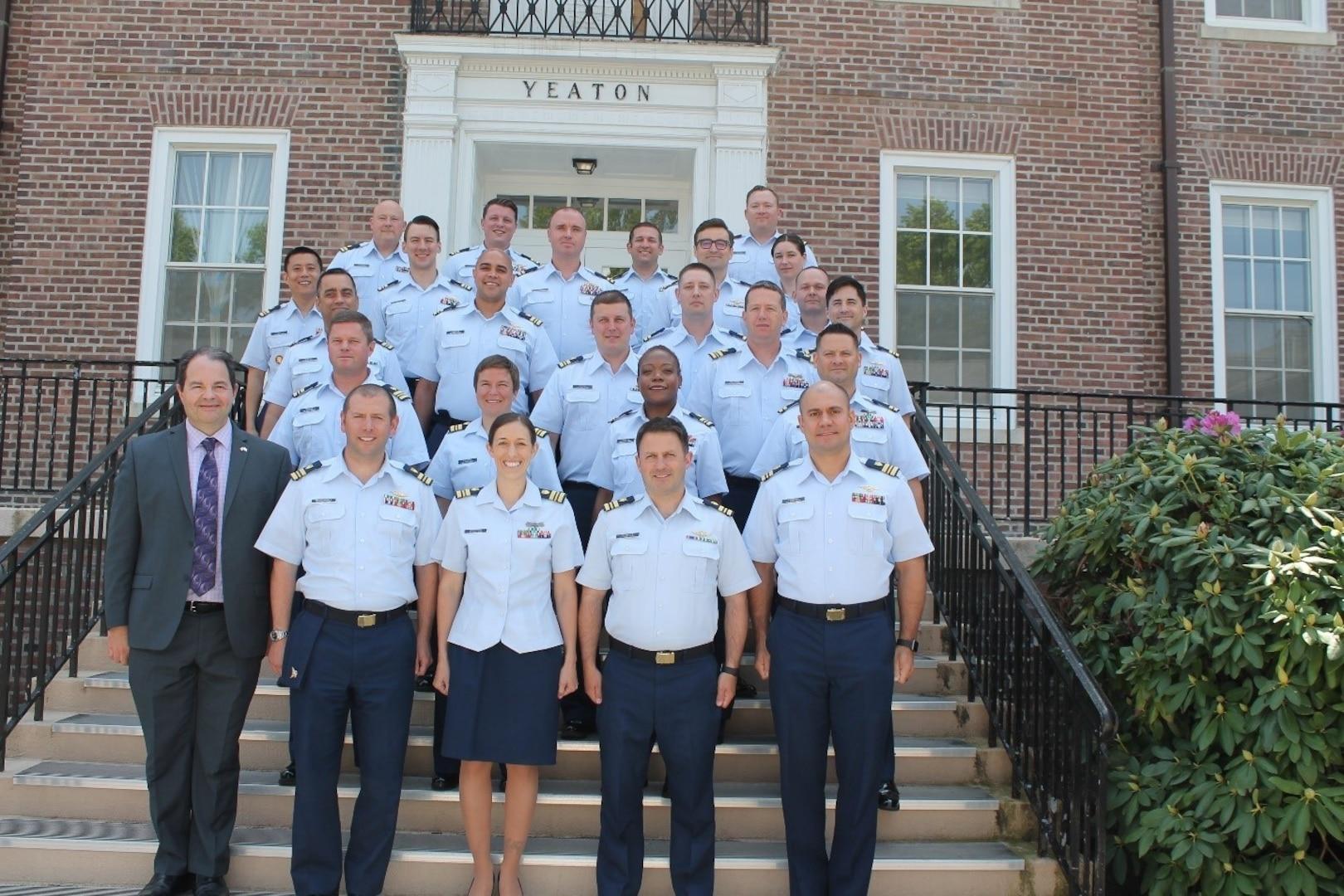 The Coast Guard Leadership Development Center Pilots Inaugural Senior Leader Transition Course (SLTC) Class Photo, June 2021. (Coast Guard photo)