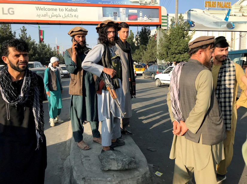 Taliban in the streets of Kabul