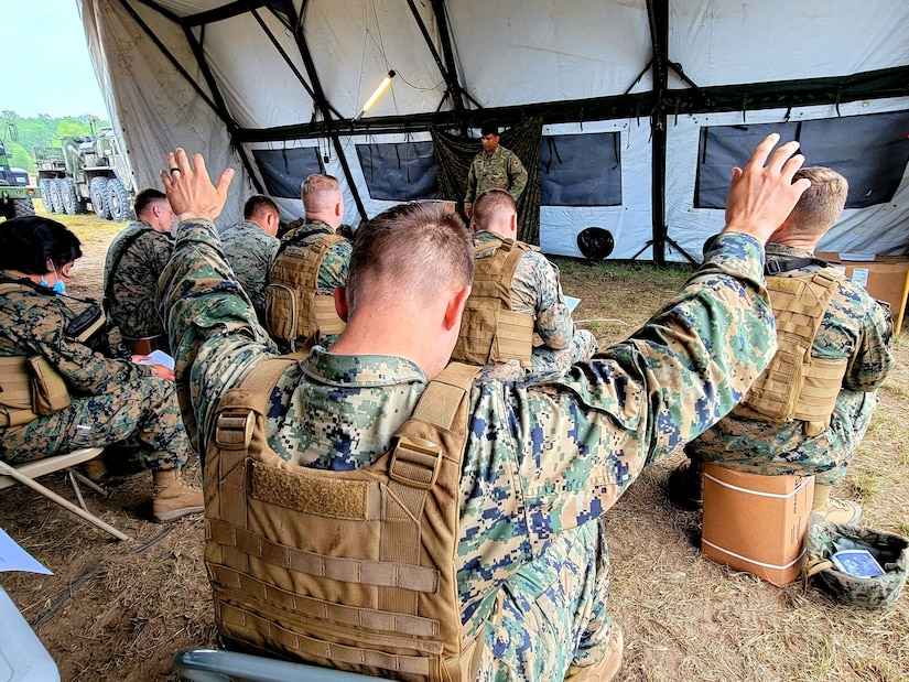 MING provides chaplain services to Marines during Northern Strike 21