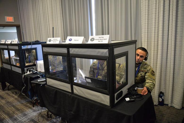 Translators in booth