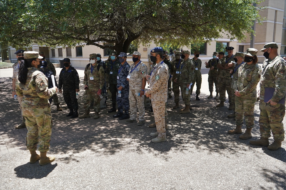 NCO addresses group of SELIS attendees outside of DLIELC