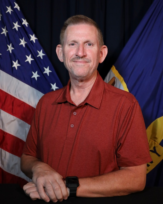 Official portrait of James Laughlin, Naval Education and Training Command (NETC) Echelon 2 records manager.  Laughlin was selected as NETC's Fiscal Year 2021 third quarter Junior Civilian of the Quarter. (U.S. Navy photo)
